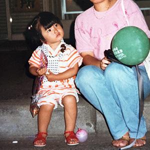 稀子2歳の写真